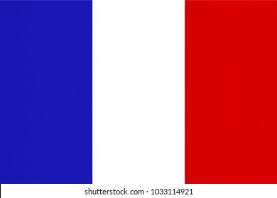 OFFICIAL FRENCH FLAG OF FRANCE - PROPORTIONS: 3:  2 - Colours:  Reflex Blue, Safe white, Red 032, texturised
