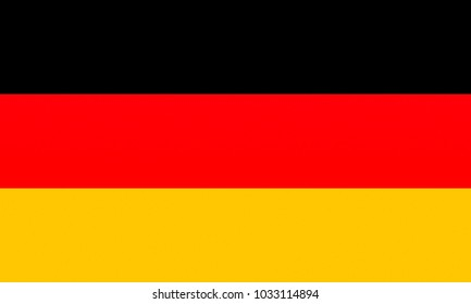 OFFICIAL GERMAN FLAG OF GERMANY AKA BUNDESFLAGGE - PROPORTIONS: 5:  3 - Colours:  Black, Red 485 C, Gold 7405 C, texturised