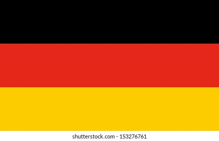 Official German flag of Germany aka Bundesflagge - Proportions: 5:3 - Colours: Black, Red 485 C, Gold 7405 C