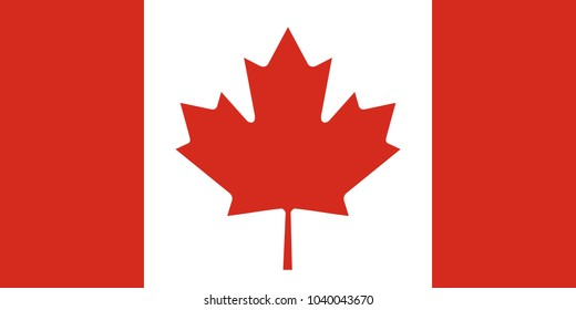 Official Large Flat Flag of Canada Horizontal