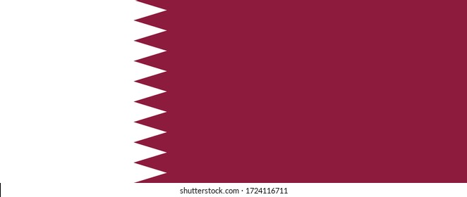 Official Large Flat Flag of Qatar Horizontal