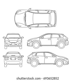 Offroad suv auto outline vehicle. Car model suv, illustration of suv automobile blueprint scheme