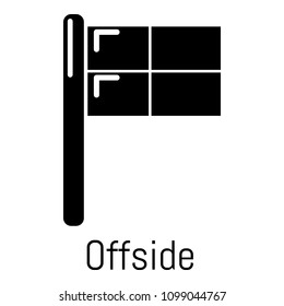Offside icon. Simple illustration of offside icon for web