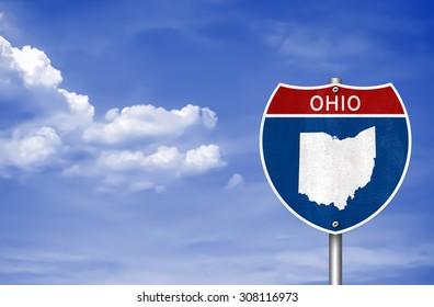 Ohio road sign concept