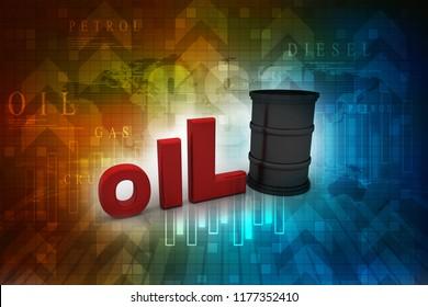 oil barrel 3d illustration