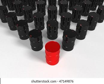 Oil barrel - 3d rendering