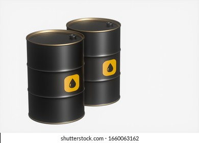 Oil barrel with white background,3d rendering. Computer digital drawing.