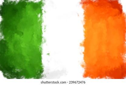 oil color ireland flag