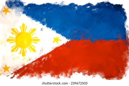 oil color philippines flag