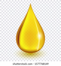 Oil drop or honey isolated on transparent background as industrial and petroleum concept.
