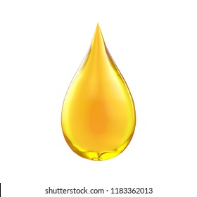 Oil drop isolate on white background, 3d  illustration