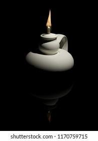 Oil lamp, 3D model