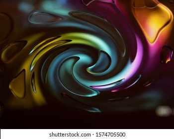 oil on glass jewel toned abstract background