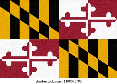 oil paint national flag of Maryland