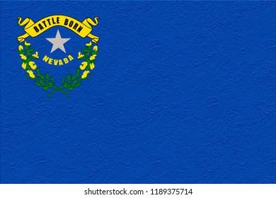 oil paint national flag of Nevada