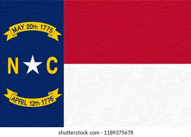 oil paint national flag of North Carolina