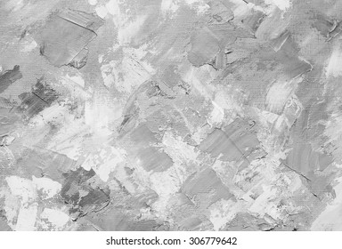 Oil paint texture. Grunge black and white background. Fragment of artwork Abstract art background. Oil painting on canvas. Brushstrokes of paint. Modern art. Contemporary art.