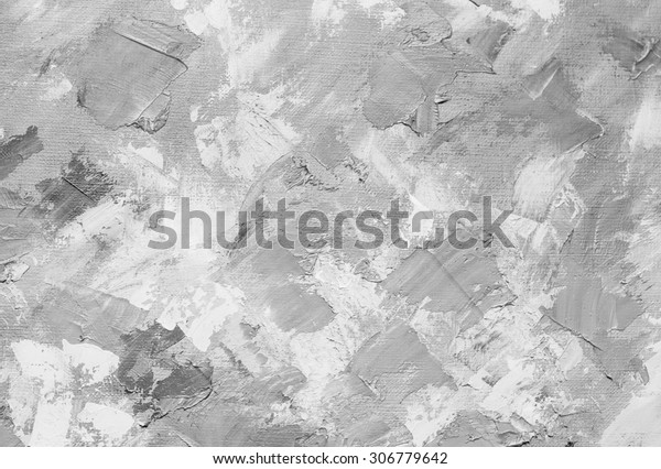 Oil Paint Texture Grunge Black White Stock Illustration
