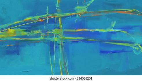 Ölmalerei auf abstraktem Hintergrund-Kunstwerke auf Leinenstruktur