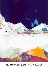 abstrakte Landschaftskunst auf Leinwand