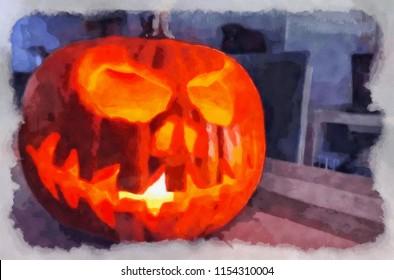 pumpkin halloween print art images stock photos vectors