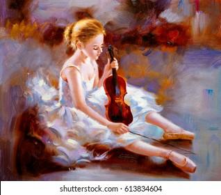 Oil Painting - Ballet