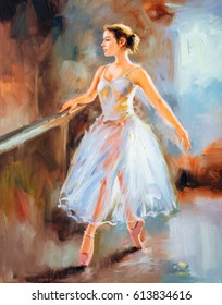Oil Painting - Ballet