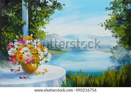oil painting house near