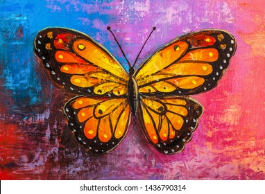 Oil painting of Monarch Butterfly