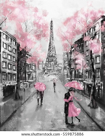 Royalty Free Stock Illustration Of Oil Painting Paris European City