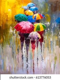 Картина маслом - Дождливый день