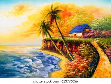 Oil Painting - Seacoast