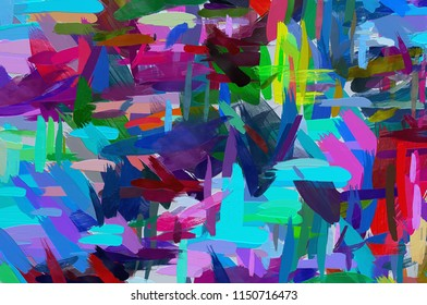 Oil painting style abstract background. Hand drawn texture.