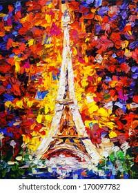 Oil Painting - Tower Eiffel, Paris