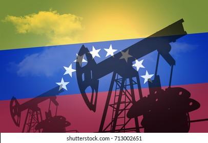 oil production in Venezuela (3d-illustration)