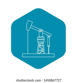 Oil pumpjack icon. Outline illustration of oil pumpjack icon for webicon. Outline illustration of icon for web