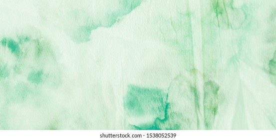 Oil Spots. Leafy Green Splashes. Liquid Oil Spots. Brush Stroke Painting. Grassy Emerald Color. Gentle Organic Design. Dyed Fashion Fabric. Vintage Drawn Texture.