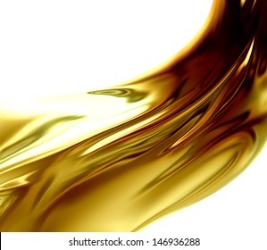 Oil Wave on a white background