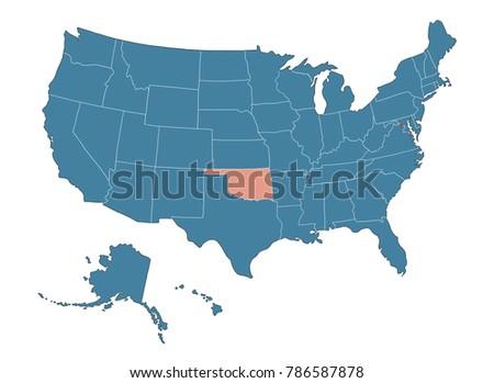 Royalty Free Stock Illustration of Oklahoma State Map USA Stock ...