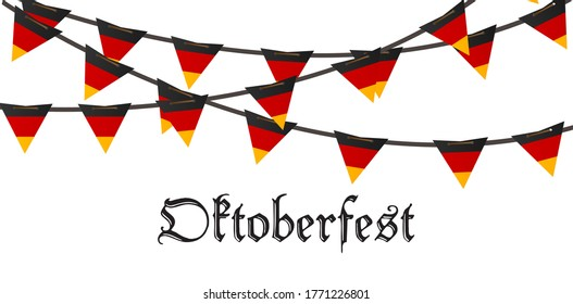 Oktoberfest holiday beer illustration background. Bavarian munich decoration event festive German isolated white. Glass carnival invitation party template. Autumn lettering fest poster banner.