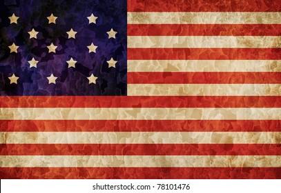 Old 1795 flag of USA, USA flag for USA Independence Day, USA Star Spangled Banner flag
