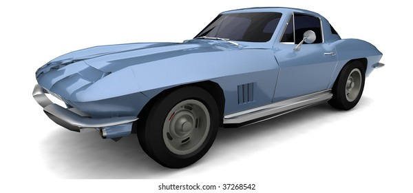 Classic Car Isolated Stock Illustrations Images Vectors