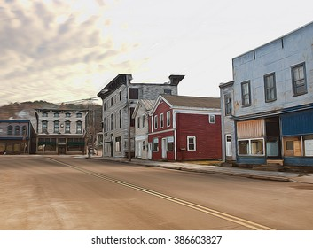 old American working class town depiction
