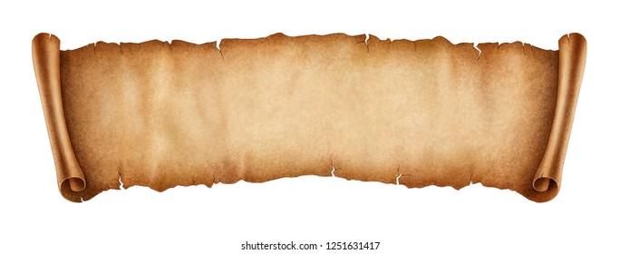 Old banner illustration, digital painting