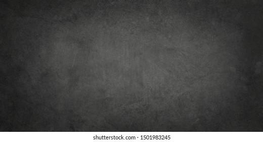 Alter schwarzer Hintergrund mit Grunge-Textur, bedrücktem Vintage-Papier oder -Wand, elegante Grau- oder Holzkohlefarben