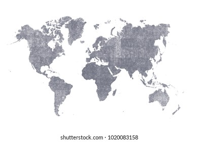 old brown map of the world ,Silhouette background