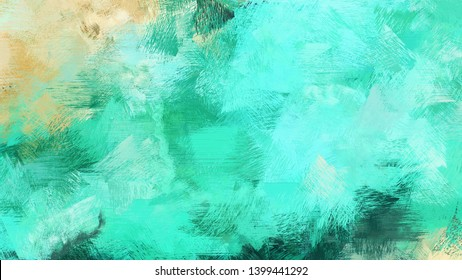 old brush strokes background with medium turquoise, turquoise and pastel gray colors. graphic can be used for wallpaper, cards, poster or creative fasion design elements.