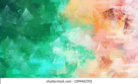 old brush strokes background with sea green, wheat and medium aqua marine colors. graphic can be used for wallpaper, cards, poster or creative fasion design elements.
