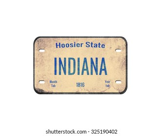 old car plate. License plate