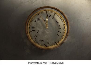 Old clock breaks down (3D Rendering)